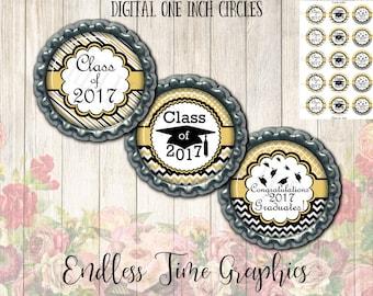 2017 Graduation Bottlecap Images. Digital 1 Inch Circle. Graduation Bottle Cap Image. Congratulations Graduate. Class of 2017 Bottlecap 014