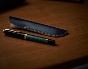 Fountain pen leather case
