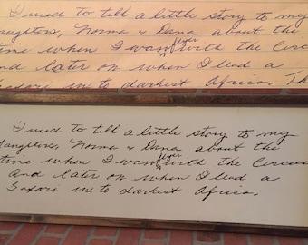 Custom Handwritten Quote Sign