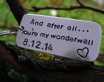 Gifts for Him   Wedding Anniversary Gift   Oasis Wonderwall Lyrics   Anniversary Gifts for Boyfriend   Anniversary Gifts   Boyfriend Gift