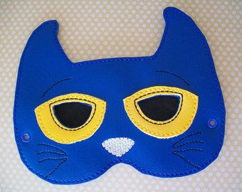 Child's Mask - Story Book Blue Cat - Pete