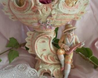 Vintage Bisque porcelain LCV basin *.