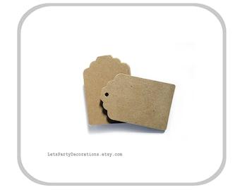 Kraft Paper Tags- Small favor tags wedding Gift Tags- Brown Kraft Tags - Set of 50
