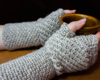 Crochet Fingerless Gloves Pattern