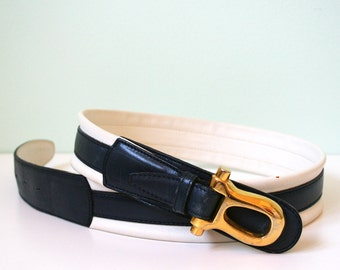 Vintage genuine leather belt made in Italy
