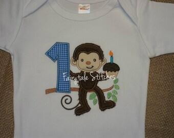 Monkey Shirt, Monkey Birthday, First Birthday Shirt, Boy First Birthday, Monkey First Birthday, Cake Smash, Birthday Shirt