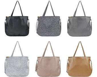 Shoulder bag & crossbody bag Vegan bag Tote bag with zipper Laptop bag women Vegan Gift for women Vegan leather bag Vegan purse Wholesale
