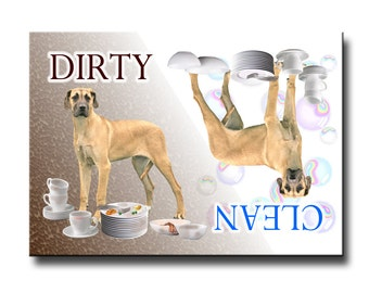 Great Dane Clean Dirty Dishwasher Magnet No 5