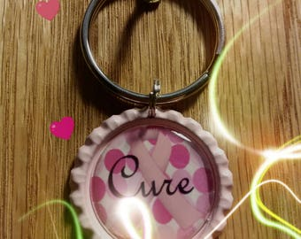 Breast Cancer Awareness Keychain, Free Shipping, Pink keychain
