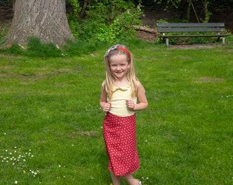 100% Cotton Bug Borrel Print Girl's Skirt