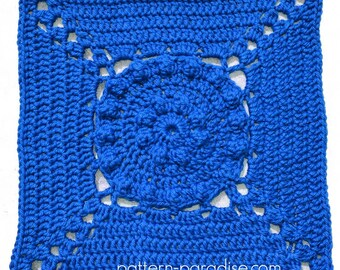 Crochet Pattern Afghan Square Tranquil Garden  PDF 16-228 INSTANT DOWNLOAD