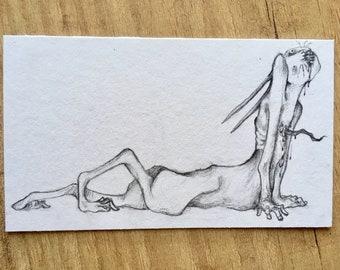 C a t - Original graphite drawing