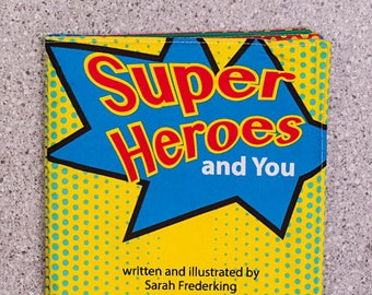 Cloth book, soft book, Super heroes, toddler toy, quiet toy