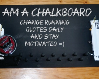 Chalkboard Running Medal and Bib Holder