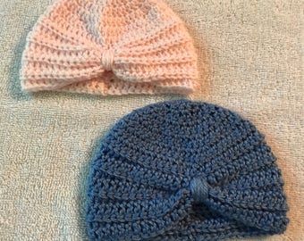 Baby Turbans, Crochet, Your Choice of Colors