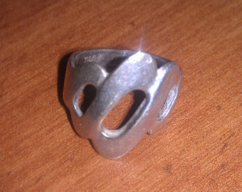 Vintage Sterling SilverSigned Esposito Modern Retro Ring Size 5