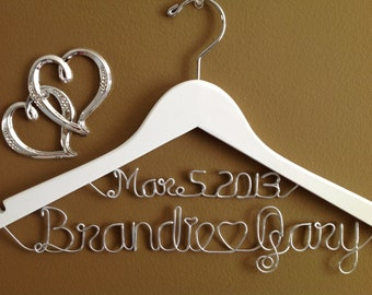 Bridal Hanger with Date for your wedding pictures, Personalized custom bridal hanger, brides hanger, Bridal Hanger, Wedding hanger, Bridal