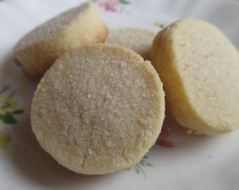 2 Dozen Vanilla Shortbread Cookies Sprinkled w/Sugar and Cinnamon