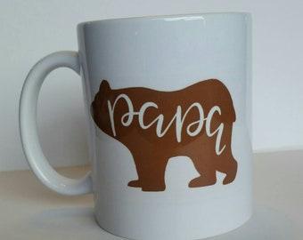 Papa bear, coffee mug .
