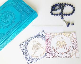 Ameen Mubarak, Amin Mubarak, Quran Khatam, Celebrate Quran Card