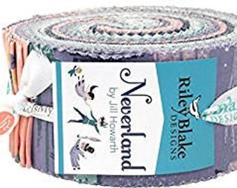 Neverland Peter Pan 2.5 Inch Rolie Polie Jelly Roll from Riley Blake - 40 Pieces - RP-6570-40