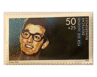 Buddy Holly West German Postage Stamp 1988