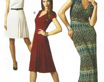 Melissa Watson Womens Dress in 3 Lengths OOP McCalls Sewing Pattern M6433 Size 4 6 8 10 12 Bust 29 1/2 to 34 UnCut