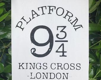 Platform 9 3/4 sign, Harry Potter sign, Hogwarts express sign
