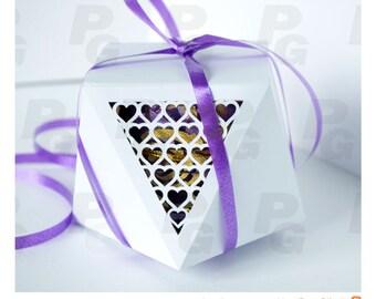 Hearts for mom Gift box SVG Candy box template DIY favor box Printable box DIY wedding favor box Mothers day Gift for mom Paper box template