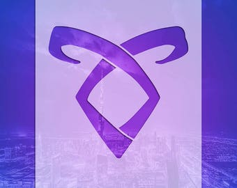 "SHADOWHUNTER RUNES STENCILS: Sku SHR01b- Angelic Power (8.5"" x 9"")"