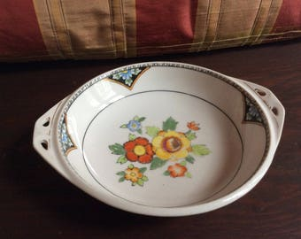 Vintage Nukitake Porcelain Hand Painted Bowl - Japan