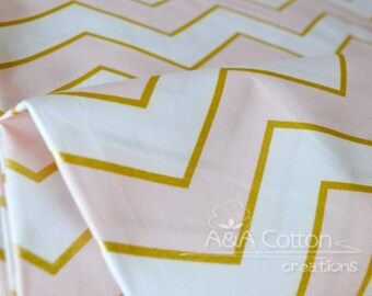Chic Chevron Pearlized in Confection, Quilting Weight Cotton, Glitz Collection, Michael Miller Fabrics