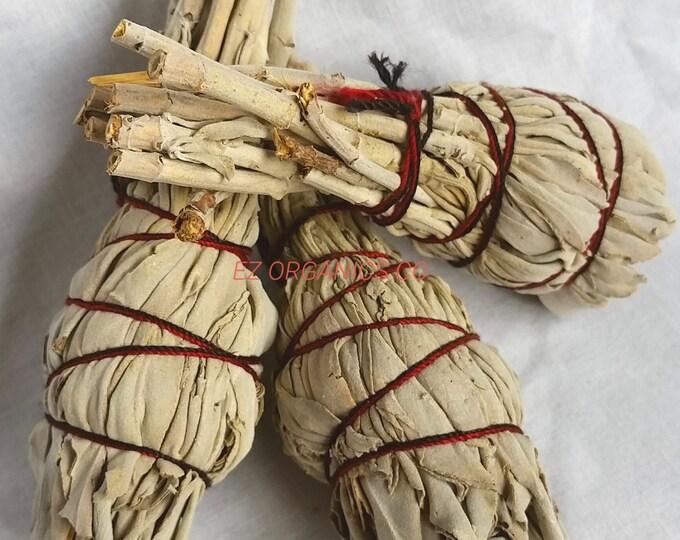 Native Small Smudge or Smoke Stick California White Sage 4 inch mini sticks Organic no sulfites or addatives