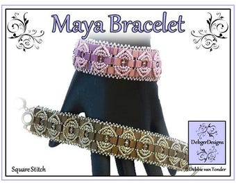 Tila Beading Pattern, Tutorial, Bracelet - MAYA