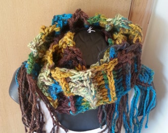Crochet Chunky Ladder Scarf   (Unisex)