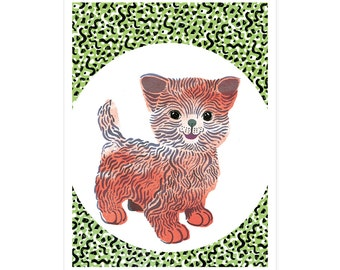 Kiddy Cat birth card