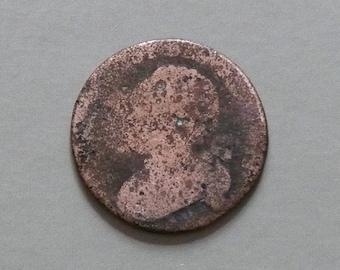 France 1791 - 1796 copper 12 deniers coin Louis XVI