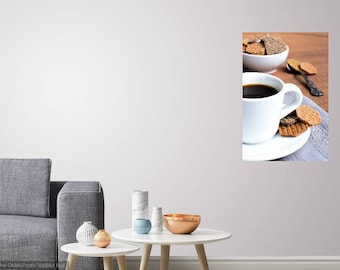 COFFEE TABLE - Food Art - Kitchen Photo - Dining Room Photo - Home Decor - Digital Photo - Digital Download - Instant Download - Wall decor