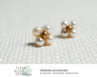bridal stud earrings | gold earrings | gold stud earrings | small gold earrings
