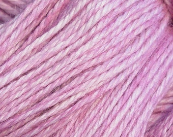 Hand Dyed Alpaca Yarn in Thistle - Finger Wt - 250 yds