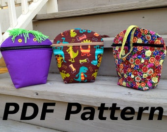 PDF Pattern, Games and More Bag, all purpose bag for all ages, instant download