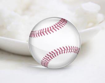 Baseball Photo Glass Cabochons (P3848)