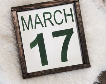 St. Patricks Day Decor / St. Patricks Day Sign / March 17 Sign / Holiday Sign
