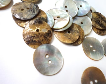 50 Pcs Shell Shiny 2 Sides Buttons - Medium SIze - For Sewing, Fashion Crafts and Accessories