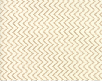 SALE - Coney Island - Zig Zag in Boardwalk Tan: sku 20284-16 cotton quilting fabric by Fig Tree and Co. for Moda Fabrics - 1 yard