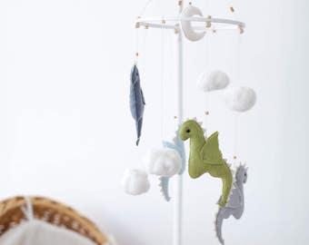 Dragon Mobile - Dragon Baby Mobile - Baby Boy Mobile - Green Baby Mobile - Baby  Shower Gift - Dragon Nursery - Fantasy Nursery