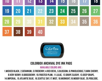 Color Box Archival Ink Pads