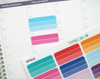 Ombre Lined Planner Stickers for the Hourly Erin Condren Life Planner (TPY031)