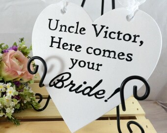 Wedding Signs Wood Heart Signs Custom Wedding Signs Ring Bearer Heart Signs Flower Girl Signs Wedding Photo Props Personalized Wedding Signs
