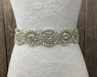 Bridal sash, ivory sash, all ivory sash, bridal sash, wedding sash, something blue, something new, wedding dress sash,